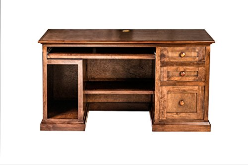 Forest Designs Mission Alder Desk: 56W X 30H X 24D Merlot Oak