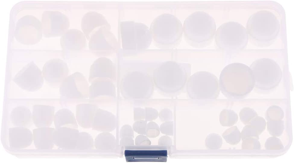 H HILABEE 100x Sortiment Abdeckkappe Schrauben Muttern Verriegelung Kappen aus Gummi
