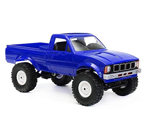DeekTek WPL C24 1/16 RTR 4WD 2.4G Military Truck Buggy Crawler Off Road RC Car 2CH Toy (Blue)