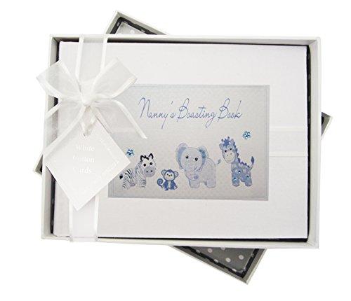 - White Cotton Cards Nanny's Boasting Book Photo Album Toys Range (Blue Gingham)