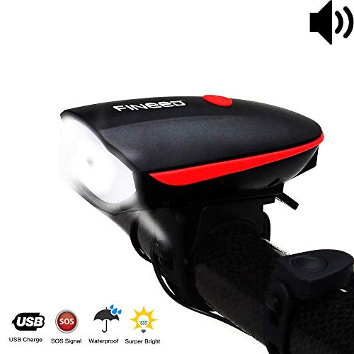 fineed Schrodinger15 USB Rechargeable Headlight with 3 Lighting Modes and 120 Db Horn for Cycling Safety Price & Reviews