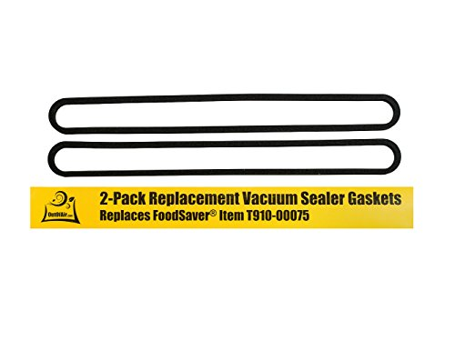 FoodSaver Upper and Lower Gasket Assembly Replacements (2 Foam Gaskets) - Fits V2200, V2400, V2800, V3000, V3200 Series Vacuum Sealers (Replaces Food Saver T910-00075) by OutOfAir