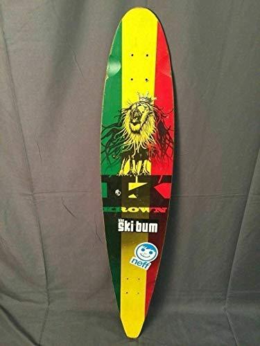 - PHOENIX FINDS TREASURES Krown Rasta Longboard City Surf Lion Skateboard