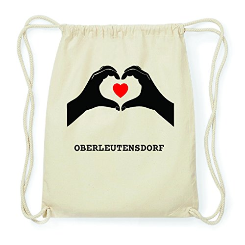 JOllify OBERLEUTENSDORF Hipster Turnbeutel Tasche Rucksack aus Baumwolle - Farbe: natur Design: Hände Herz QMKbNo0iZ