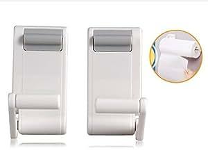 adjustable magnetic toilet paper holder white home kitchen. Black Bedroom Furniture Sets. Home Design Ideas