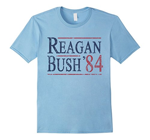 Men's Reagan Bush 84 T Shirt Large Baby Blue (80s Clothing For Men)