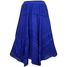 Mogul Interior Women's Sexy Skirt Medieval Bohemian Purple Hi Low Hemline Skirts