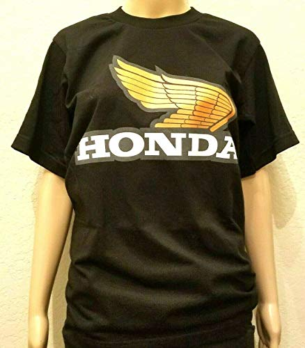 - Honda Wing T-shirt Black Racing Motorcycle HRC CRF 250 450 CBR 600RR TRX Small