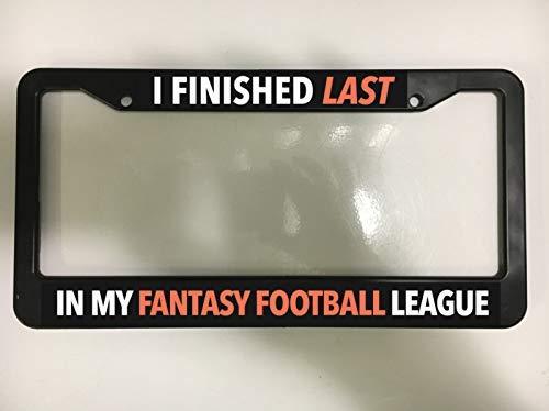 (Fabri.YWL Final Fantasy Football NFL Finished Last NCAA Black License Plate Frame New)