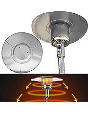 Chang Terassvärmare reflektor sköld, aluminium rund avtagbar värmefokuserande reflektor skydd för naturgas och propan uteplats värmare universella ersättningstillbehör, silver (1 st)