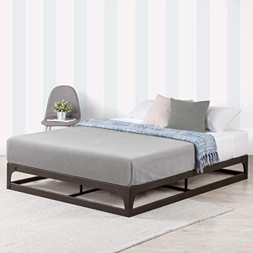 Mellow 9 Inch Metal Platform Bed Frame W Heavy Duty Steel Slat Mattress Foundation Queen Black