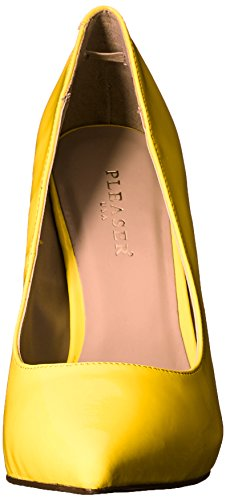 Pleaser Damen Amuse-20 Pumps, Schwarz Neon Yellow Pat
