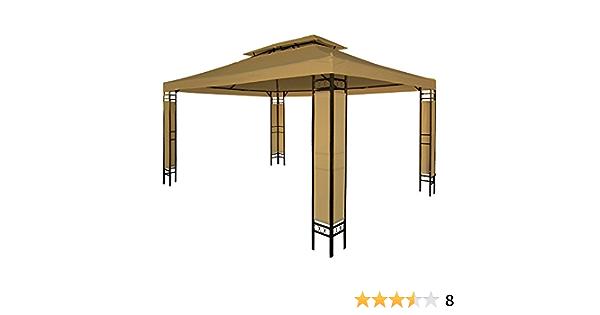 Miadomodo - Carpa para jardín y terraza color café de 3 x 4m