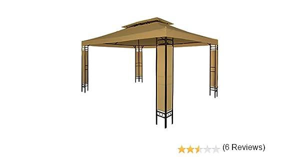 Miadomodo - Carpa para jardín y terraza color café de 3 x 4m ...