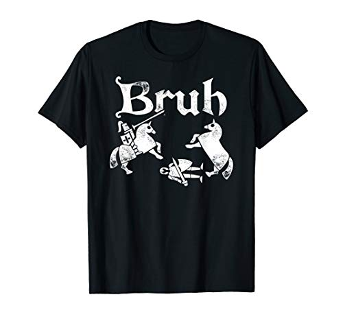 Funny Renfaire TShirt Bruh Knight Silhouette Jousting