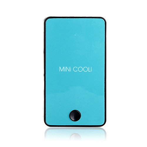 PIUPIU Mini USB Portable Air Conditioner Quiet Hand Held Desk Fan Humidifier Summer Cooler Cooling Bladeless Fan Rechargeable