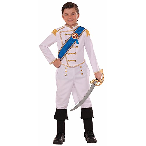 Forum Novelties Kids Happily Ever After Prince Costume, White, Medium]()