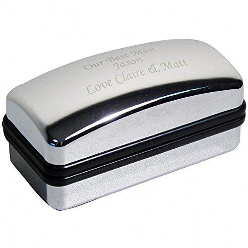 C.P.M. Personalised Cufflink Box - Chrome Cufflink Box ()