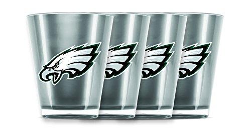 Shot Tall Set Glass (NFL Philadelphia Eagles Insulated Acrylic Shot Glass Set of 4)
