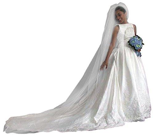 Shop Ginger Wedding 1 Tier Cathedral Swarovski Crystal Bridal Veil Glimmer Ivory