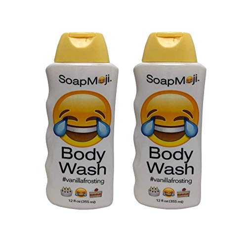 Chocolate Body Frosting - Crying Laughing Soap, Vanilla Frosting Scented, Hilarious Body Wash by SoapMoji, Set of 2