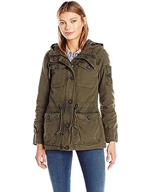 Women's Cotton Four Pocket Hooded Field Jacket
