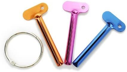 Toothpaste Tube Squeezers Set of 8 Plastic Tube Keys