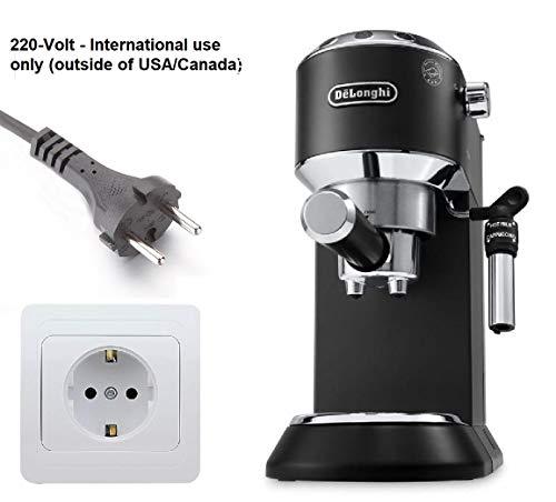 DeLonghi Dedica Stainless Steel Pump Espresso Machine (Black)