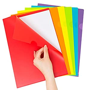 Youngever 24 Pack Plastic Project Folders, Document Folders, Project Pockets, Folders with Pockets, Heavy Duty, 6 Assorted Colors, A4 Size