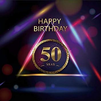 Yeele - Papel Pintado para Fotos de 50 cumpleaños con Fondo ...
