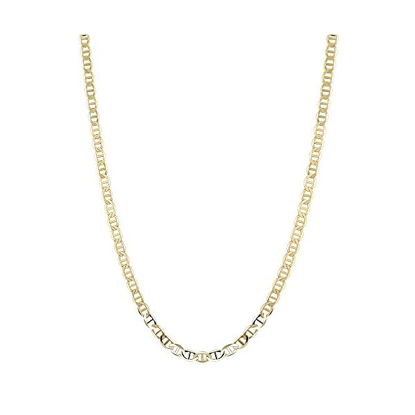 IcedTime-10K-Yellow-Gold-Solid-Flat-Mariner-Chain-5mm-Wide-Necklace-Lobster-Claw-Clasp-16182022-or-24-inch