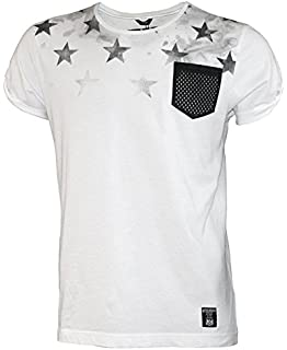 3fe120ea454 Gifted Heroes Mens Half Black Half White T-Shirt Black and White XL ...