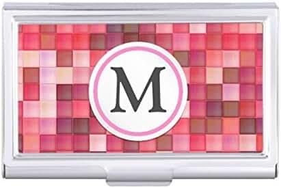 Pink Mosaic Card Holder