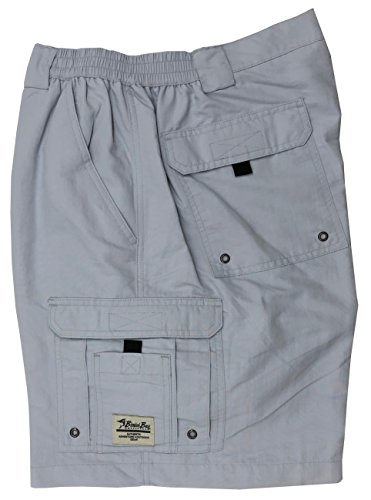 Bimini Bay Outfitters Boca Grande Nylon Short 31610, Pearl Gray, 34