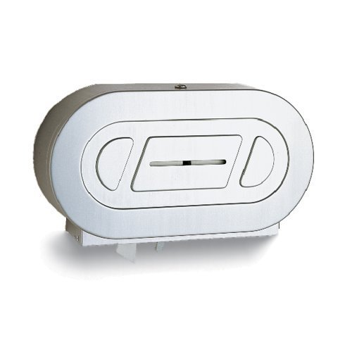 Classic Series Surface Mounted Toilet (Bobrick B-2892 Classic Series Surface-Mounted Twin Jumbo Roll Toilet Tissue Dispenser, Satin by Bobrick)