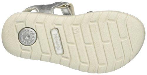 Primigi Mädchen Pal 7601 Offene Sandalen mit Keilabsatz Silber (ARGENTO/BIANCO)