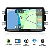 Android 8.0 Double Din Car Stereo for Renault Duster/Dacia Sandero/Lada Xray 2/Renault Captur/Logan 2-8 Inch Car Audio GPS Navigation Head Unit Support WiFi 4G Bluetooth SWC Google Free Camera Canbus