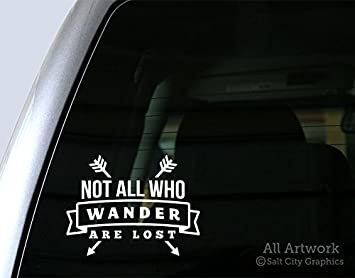 Not All Those Who Wander Are Lost Lotr Compass Art Vinyl Sticker Car Decal Rear Windshield Fashion Car Window Decoration L312 Car Stickers Aliexpress