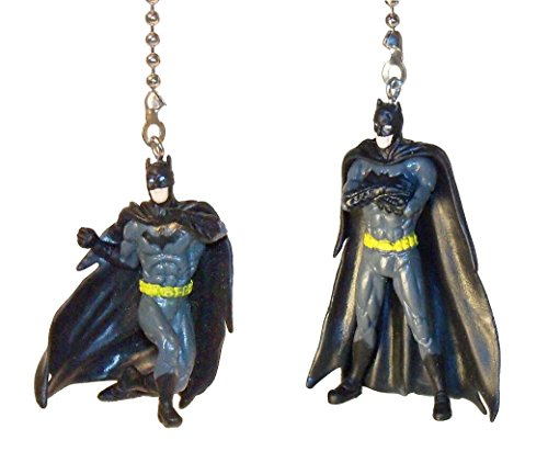 Batman Joker Wonder Woman Superman Flash Justice League Ceiling Fan Pull Set by Wooden Androyd Studio (2 Batman Pair)