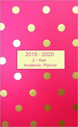 2018 2020 2 year academic planner pocket weekly and monthly