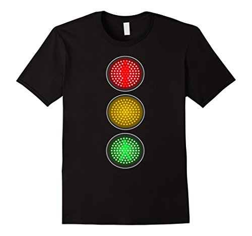 Mens Traffic Signal Light Halloween Group Costume Idea T-Shirt 2XL Black