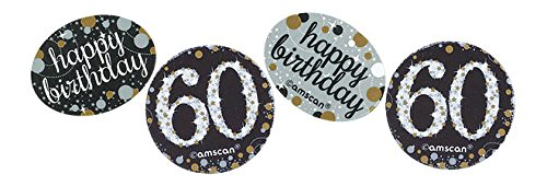 Amscan Sparking Celebration 60 Confetti, Multicolor]()