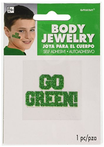 amscan Go Green Glitter Body Jewelry, Party Accessory, 24 Ct. - Go Green Jewelry