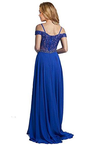 Besswedding Tulle En Dentelle Profonde V Cou Des Femmes Robes De Bal 2018 Robe Longue Du Cou Capuchon Bleu Marine Bp123