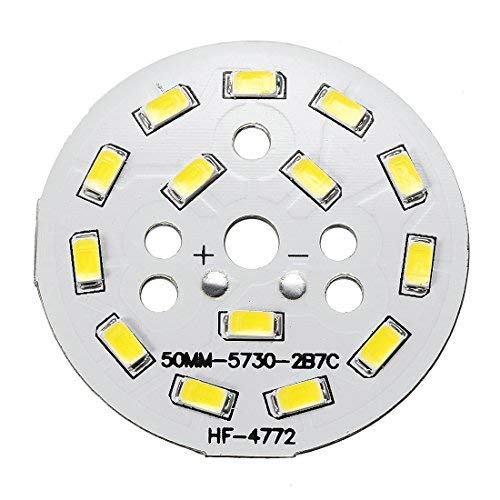 ZealMax 300mA 7W 14 LED 5730 SMD Módulo de chip LED Tablero de aluminio Blanco puro Súper brillante 50mm Dia