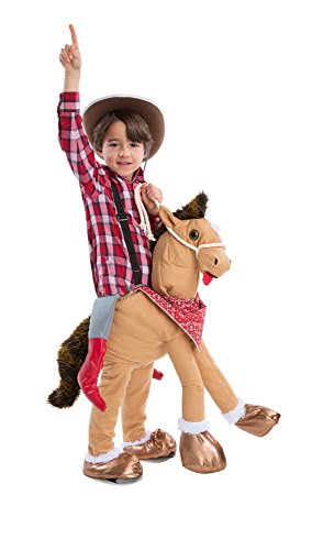 HouseHaunters Kid's Ride 'Em Horsey, Tan Brown/Gold, One (Halloween Costumes For Horses And Riders)
