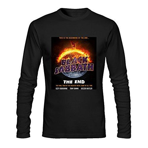 Diy Black Sabbath Men's Tshirt Long Sleeve by Fangbai Liu