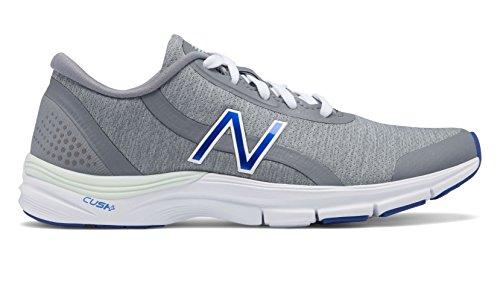 (New Balance 711v3 Heathered Trainer Shoe Women's Crosstraining 8.5 Steel-Blue Iris)