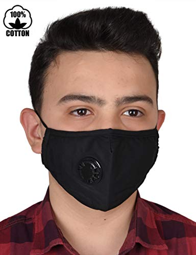 Pollution Mask Military Grade Anti Air Dust and Smoke Pollution Mask with Adjustable Straps and a Washable Respirator Mask Made For Men Women and Kids N99 N95 Mask by optipanel2d (Image #1)