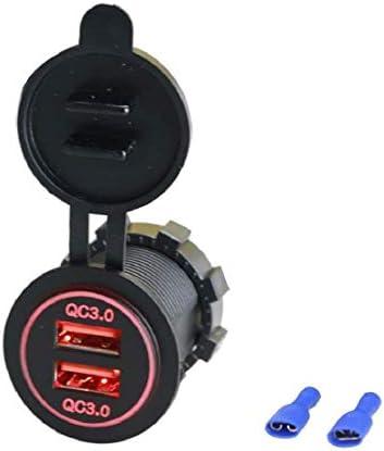 灰皿 プラグ チャージャー 2つUSBポートオートバイ 車 携帯電話用 電器プラグ デュアル USB充電器 2ポートソケット 高速充電 4倍の速度 シガーライター